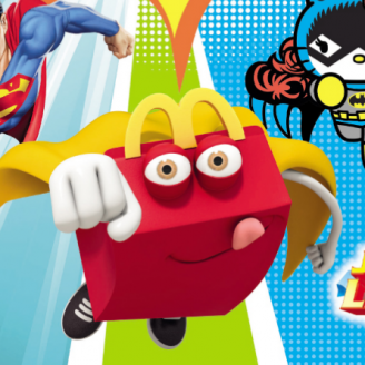 McDonald's Hello kitty & Superman masks